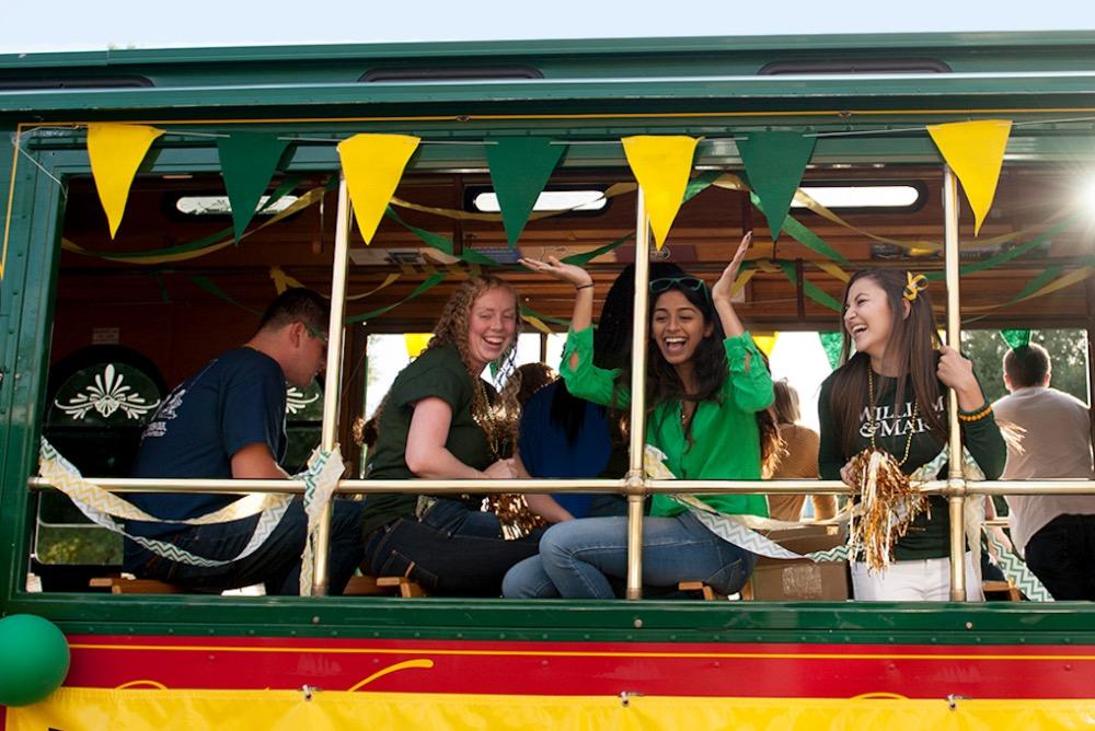 Homecoming parade trolley