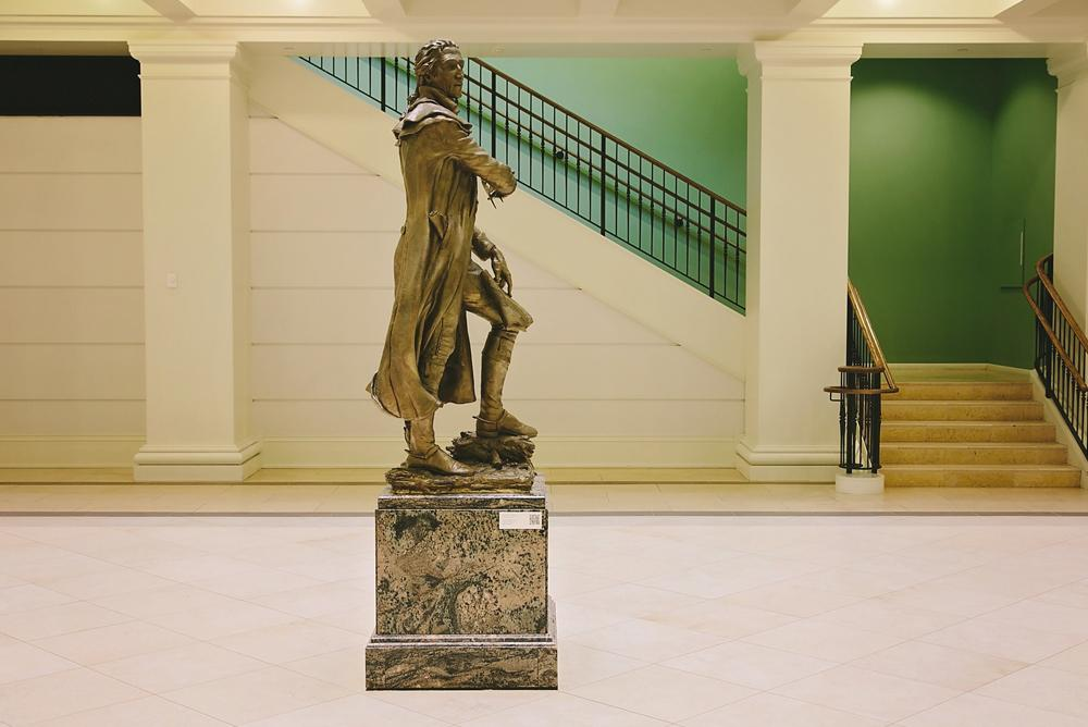 Pierre statue in atrium