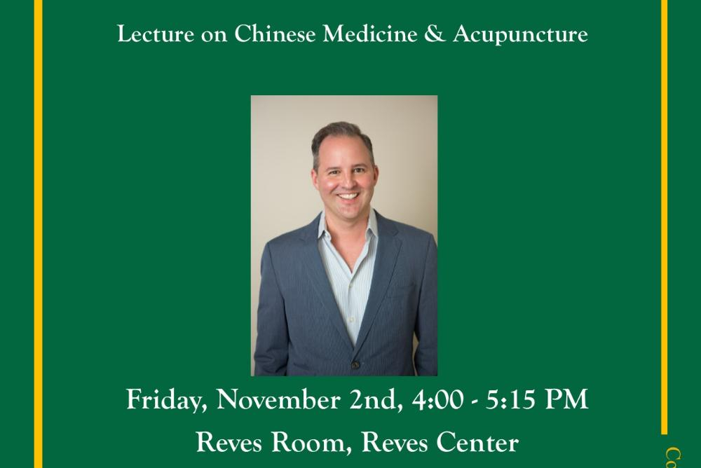 Lecture on Chinese Medicine & Acupuncture - 11/2