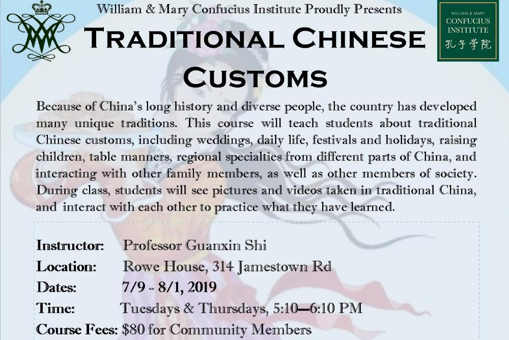 Traditional Chinese Customs