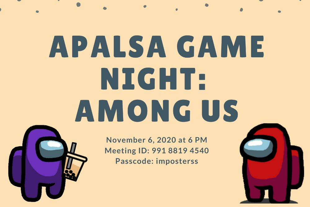 APALSA Game Night: Among Us Poster