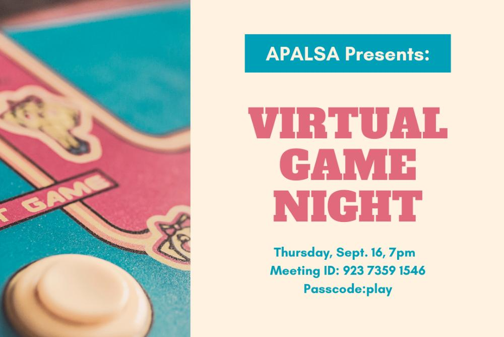APALSA Presents: VIrtual Game Night