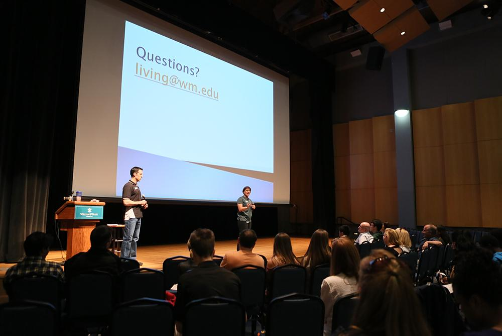 A presentation given to incoming students at Freshman Orientation