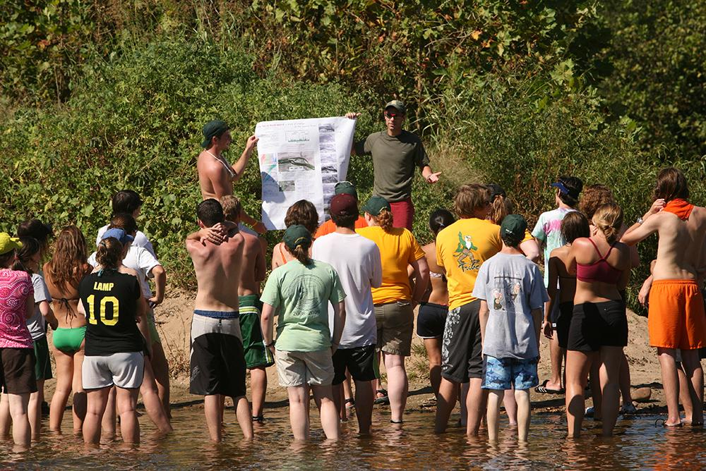 faculty, students, outside, outdoors, people, research, geology, beaches, water, summer