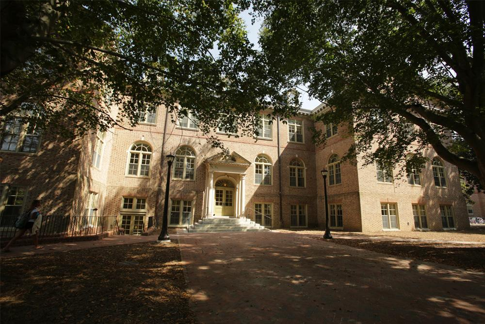 View of the outside of Tyler Hall